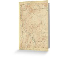 Maine USGS Historical Map Bingham 306473 1905 62500 Greeting Card