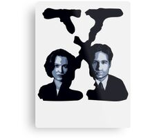 X-FILES - Scully & Mulder Metal Print