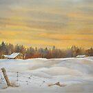 Winter Farm by bevmorgan