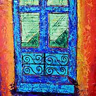 Blue window by Maria Norris