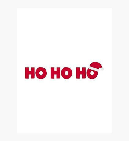 Santa Claus Ho Ho Ho Photographic Print