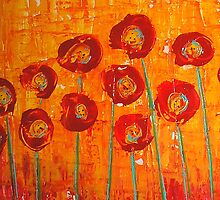 Poppies I by Maria Norris