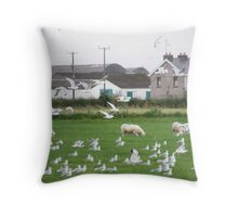 UN 405 North atlantic Squadron Gull patrol with Ground Crew Throw Pillow