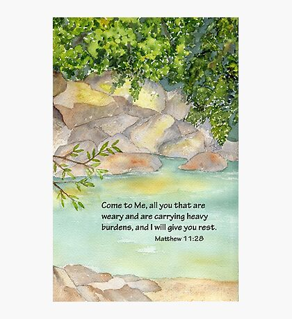 An Invitation to Rest- Matthew 11:28 Photographic Print