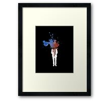 Space Heads Blue and Red - Abstract Grafitti Framed Print
