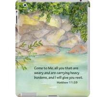 An Invitation to Rest- Matthew 11:28 iPad Case/Skin