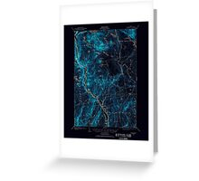 Maine USGS Historical Map Bingham 460210 1903 62500 Inversion Greeting Card