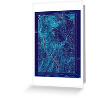 Maine USGS Historical Map Bingham 807387 1905 62500 Inversion Greeting Card