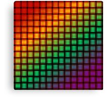 Weave World (rainbow/pride colors) Canvas Print