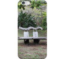 Bulky Bench in a Bush Garden iPhone Case/Skin