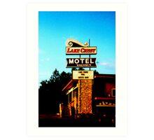 Lake crest motel Art Print