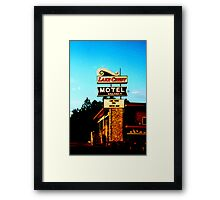 Lake crest motel Framed Print