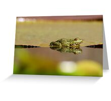 frogs paradies II Greeting Card