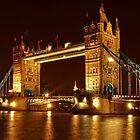 Tower Bridge At Night, London, United Kingdom by atomov