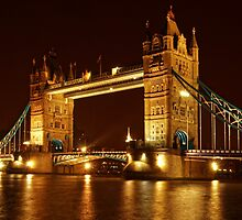 Tower Bridge At Night, London, United Kingdom by atomov