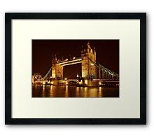 Tower Bridge At Night, London, United Kingdom Framed Print