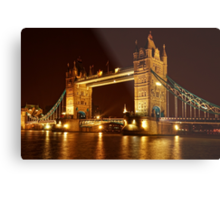 Tower Bridge At Night, London, United Kingdom Metal Print