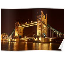 Tower Bridge At Night, London, United Kingdom Poster