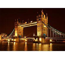 Tower Bridge At Night, London, United Kingdom Photographic Print