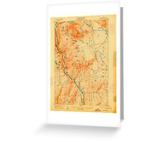 Maine USGS Historical Map Bingham 807388 1905 62500 Greeting Card