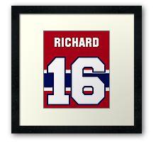 Henri Richard #16 - red jersey Framed Print