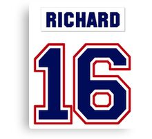 Henri Richard #16 - white jersey Canvas Print