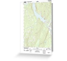 Maine USGS Historical Map Bingham 20110902 TM Greeting Card