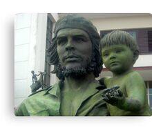 Che Guevara statute Canvas Print