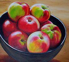 Eight Apples by molliekathleen