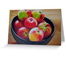 Eight Apples Greeting Card