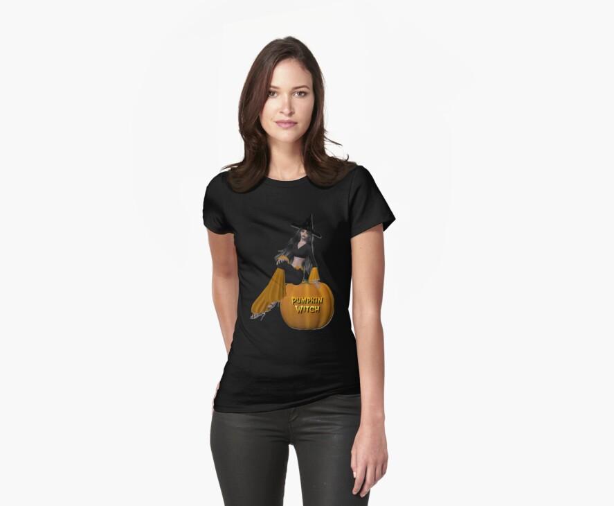 Pumpkin Witch T.Shirt by EnchantedDreams