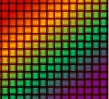 Weave World (rainbow/pride colors) by Scott Mitchell