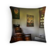 In the Barber Shop Throw Pillow