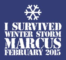 'I Survived Winter Storm Marcus February 2015' T-shirts, Hoodies, Accessories and Gifts by Albany Retro