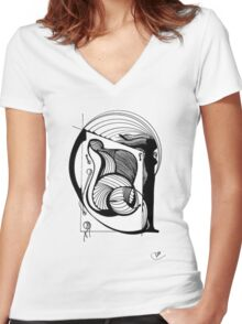 Abstract Moments 37 Women's Fitted V-Neck T-Shirt