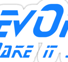 DevOps - Make it so. Sticker