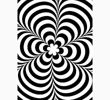 Modern Black & White Geometric Optical Illusion Mens V-Neck T-Shirt
