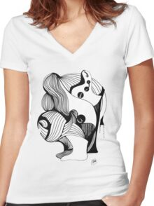 Abstract Moments 40 Women's Fitted V-Neck T-Shirt