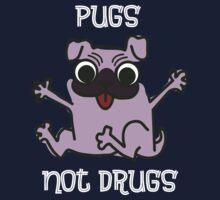 PUGS NOT DRUGS Kids Tee