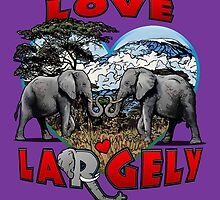 LOVE LARGELY (purple) by torg