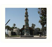 Totem Pole at Venice Beach, CA Art Print