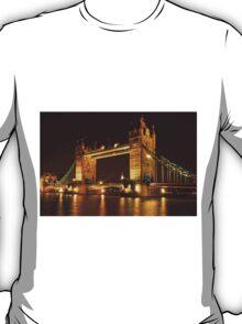 Tower Bridge At Night, London, United Kingdom T-Shirt
