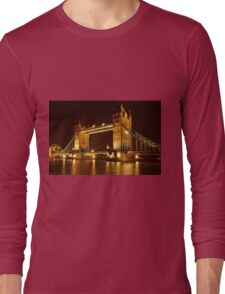 Tower Bridge At Night, London, United Kingdom Long Sleeve T-Shirt