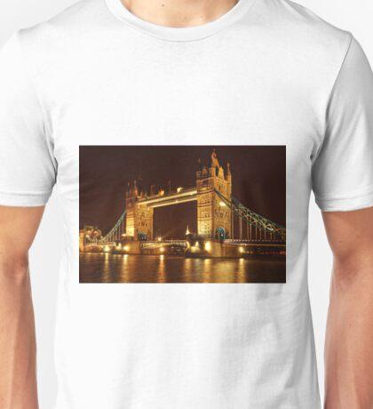 Tower Bridge At Night, London, United Kingdom Unisex T-Shirt