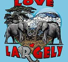 LOVE LARGELY (blue) by torg