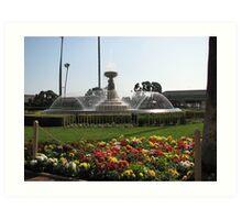 Fountain at Santa Anita Racetrack Art Print