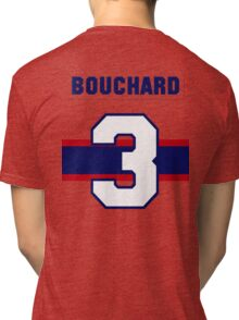 Butch Bouchard #3 - 1940s white jersey Tri-blend T-Shirt