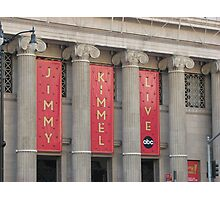 Jimmy Kimmel Live Photographic Print
