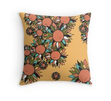 Psychedelic Sunflowers Throw Pillow