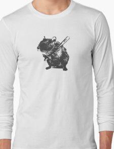 Angry street art mouse / hamster (baseball edit) Long Sleeve T-Shirt